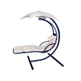 103414 Jardin camping playa mobiliario exterior acero ratan balancin natuur