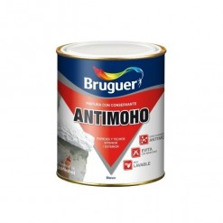 81574 Pintura Plástica Antimoho Blanco Mate 750ml Bruguer