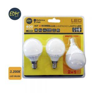 EDM98200 iluminacion pack bombilla led esferica edm