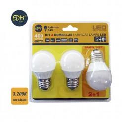 EDM98201 iluminacion pack bombilla led esferica edm