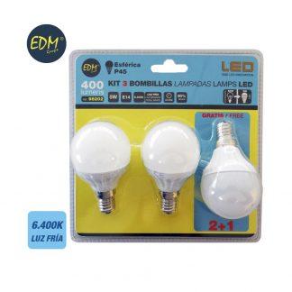 EDM98202 iluminacion pack bombilla led esferica edm