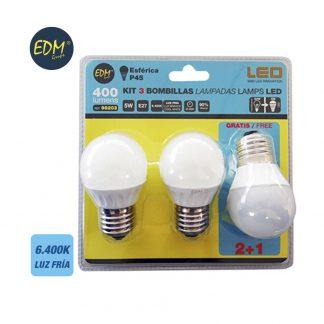 EDM98203 iluminacion pack bombilla led esferica edm