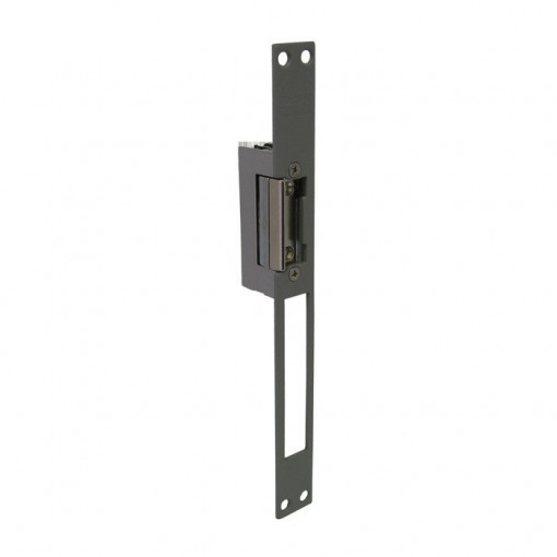 57599 ABREPUERTA ELECTRICO DORCAS NORMAL DESBLOQUEO REGULABLE PLACA LARGA M SERIE 45 ND-FLEX/M GRIS 4532006/M