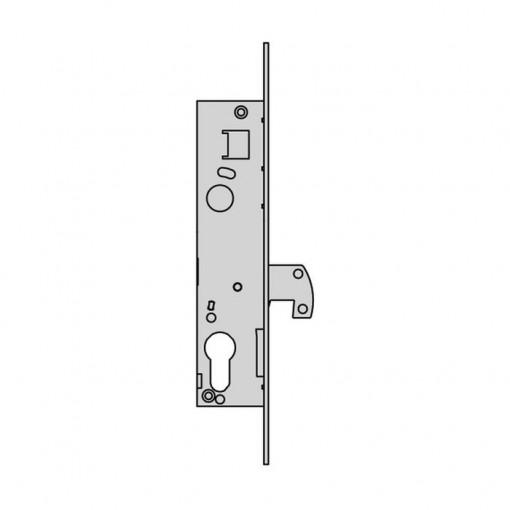 63179 CERRADURA METALICA EMBUTIR CISA SOLO GANCHO L4140.20.0 INOX 25x20MM L4140.20.0