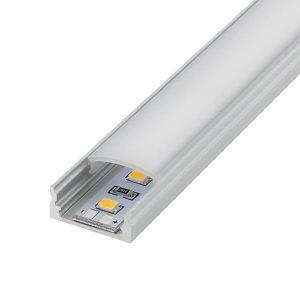 LM11973 Perfil de aluminio U 2 metros 12V/24V Ledme